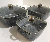 Набор посуды мраморное покрытие Benson BN-331 6 предметов