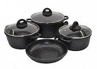 Набор посуды мраморное покрытие Benson BN-313 7 предметов