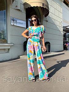 Женский летний комбинезон с брюками, в расцветках НП-0-0720