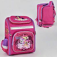 Рюкзак школьный с Пони N 00177, 1 отделение, 4 кармана, ортопедическая спинка, пластиковые ножки