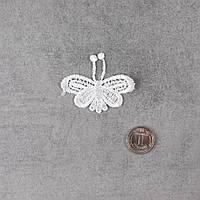 """Декоративная нашивка, аппликация для одежды и декора """"Бабочка с усиками"""" - 5*3.5 см"""