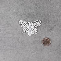 """Декоративная нашивка, аппликация для одежды и декора """"Ажурная бабочка"""" - 4*5 см"""