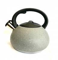 Чайник из нержавеющей стали со свистком Benson BN-714 3 л Grey