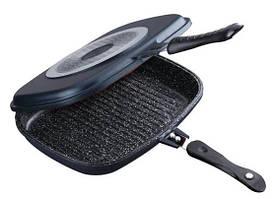 Двухсторонняя сковорода-гриль с мраморным покрытием Benson BN-555 36 см Black