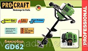 Мотобур ProCraft GD62 (Шнек 150 мм)