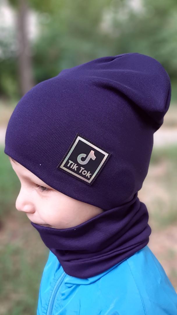 Детские трикотажные шапки. Наборы шапка шарф