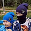 Детские трикотажные шапки. Наборы шапка шарф, фото 2