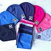 Детские трикотажные шапки. Наборы шапка шарф, фото 4