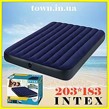 Надувной двухместный матрас Intex 183*203*25, двуспальный, в палатку, пляжный, для сна