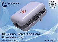 Сетевой интернет адаптер Asoka PlugLink ETH-500, Передача интернета по линии 220 Вольт, фото 1