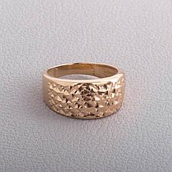 Золота каблучка з алмазною гранню КП10211А