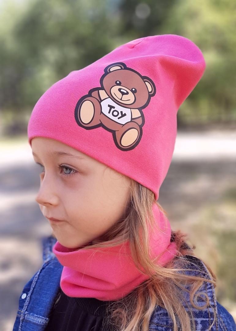 Демисезонная шапка. Шапочка для девочки
