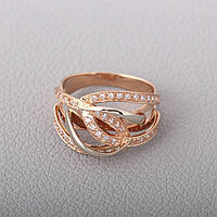 Кольцо золотое с фианитами КП1284