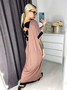 Платье макси, бантики на спинке
