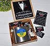Подарочный набор для мужчины с флягой и виски