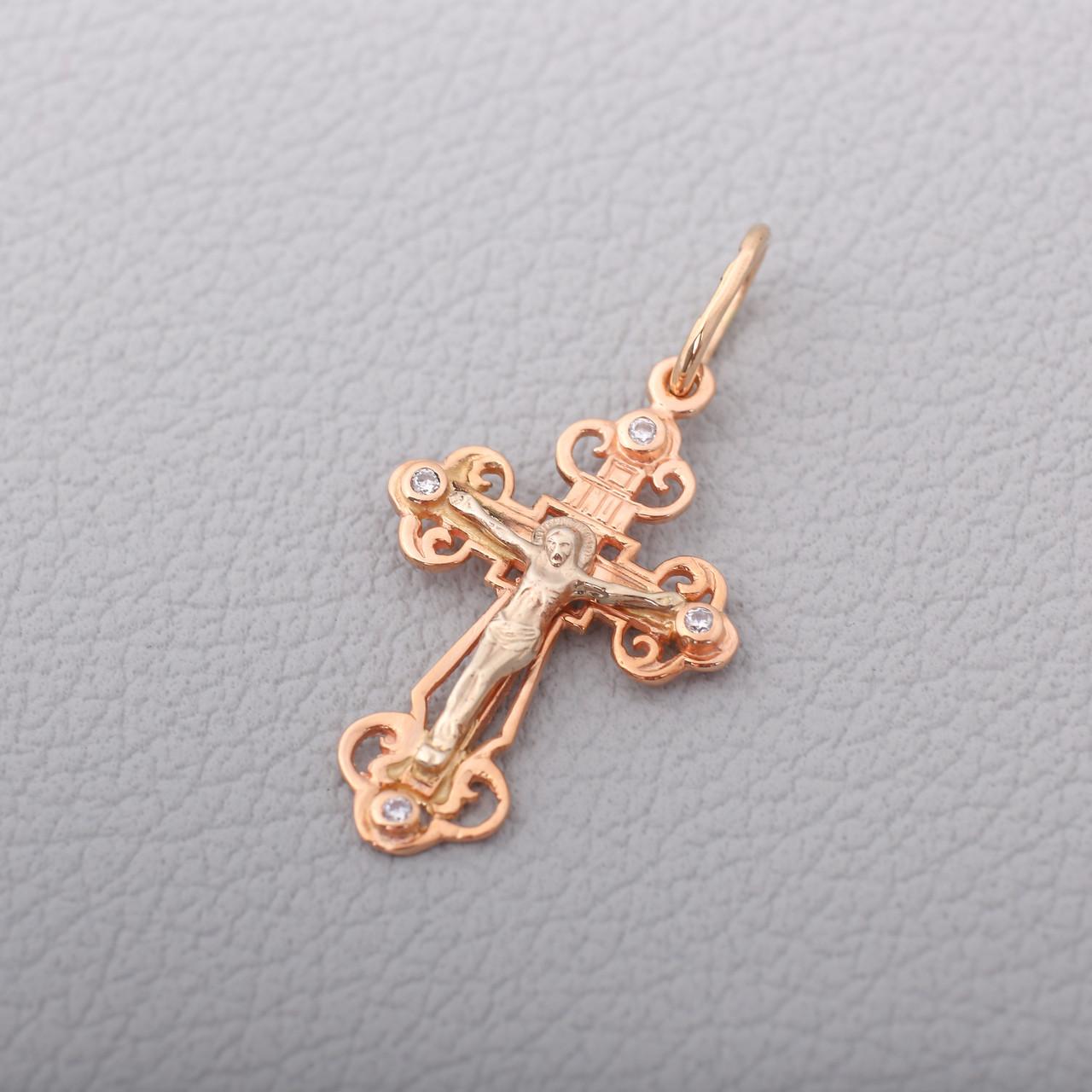 Золотой детский крестик. ПП424б