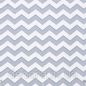 Римські штори з біло-голубим зигзагом, фото 2