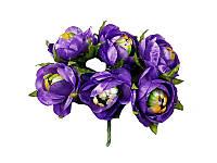 Цветок камелии полураскрытой Фиолетовый, размер 4 см, 1 шт