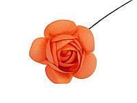 Цветок Камелии Оранжевый, 5 см, 1 шт