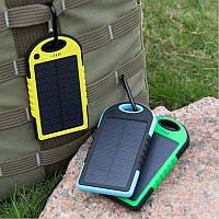 Портативное зарядное устройство Power Bank Solar 50000 mAh на солнечной батареи с LED подсветкой для туризма