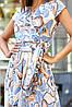Шелковое летнее платье на запах с юбкой полусолнце (Дилия mm), фото 5