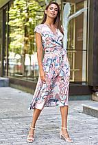 Шелковое летнее платье на запах с юбкой полусолнце (Дилия mm), фото 3