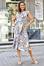 Шелковое летнее платье на запах с юбкой полусолнце (Дилия mm), фото 2