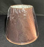 Тканевый абажур коричневый, фото 1
