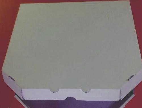 Коробка для пиццы белая , чистая 35 x 35 x 30 . 100 штук - пачка.