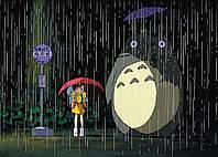 Картина постер Gee! My Neighbor Totoro Мой сосед Тоторо дождь 60x40 NT 09.017