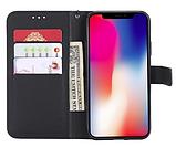 Чехол - книжка Xiaomi Redmi Note 8T с силиконовым бампером и отделением для карточек Цвет чёрный, фото 3