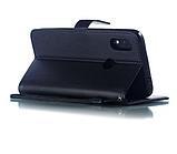 Чехол - книжка Xiaomi Redmi Note 8T с силиконовым бампером и отделением для карточек Цвет чёрный, фото 4