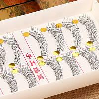 Ленточные накладные ресницы на леске 10 пар № 218