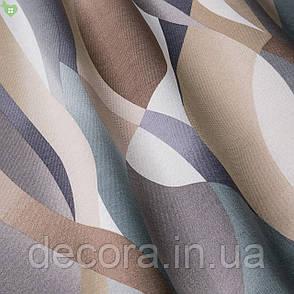 Римська штора з сірою та коричневою полосами, фото 2