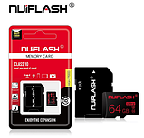 Карта памяти для планшета и телефона Micro SD NUIFLASH 64 Gb class 10 High Speed, фото 2