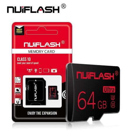Карта памяти для планшета и телефона Micro SD NUIFLASH 64 Gb class 10 High Speed