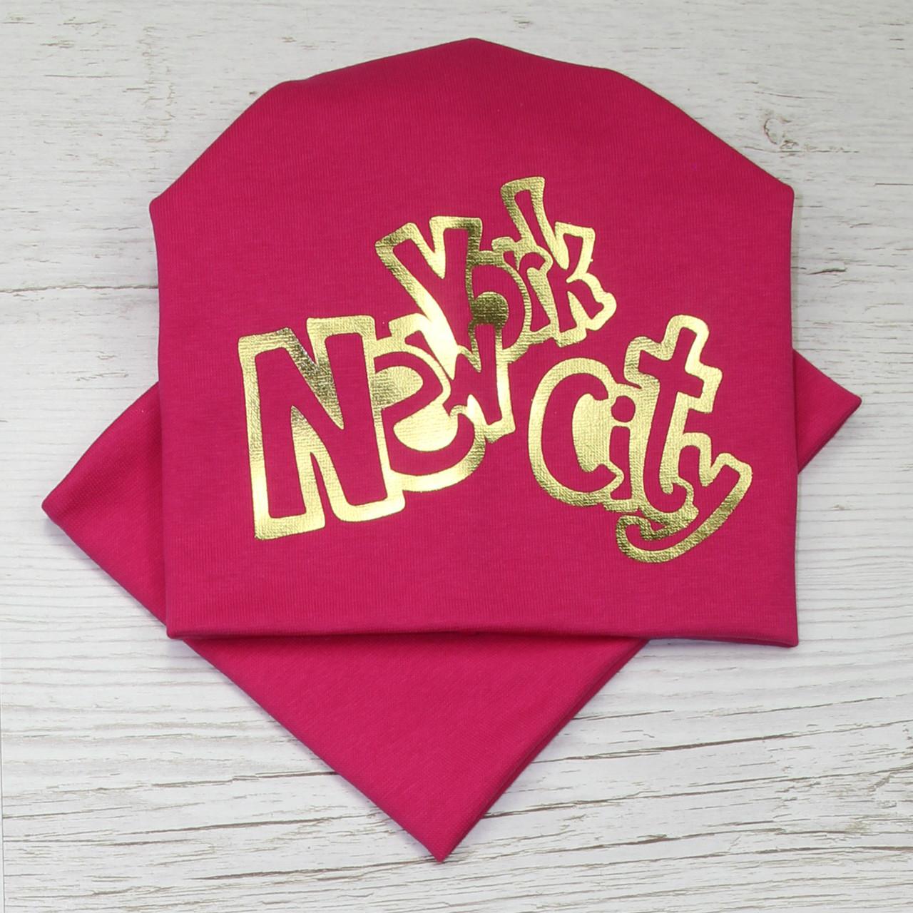 Стильные детские шапки. Шапка трикотажа для девочки