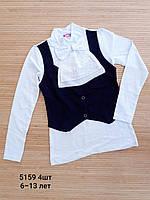 Блузка с жабо для девочек 6-13 лет. Оптом .Турция.