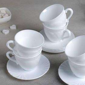Сервиз чайный Luminarc Cadix 12 предметов 220 мл 6 шт (37784)