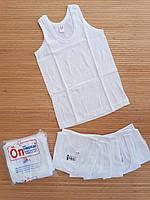 Майка біла білизна для хлопчиків 6-7 років (№36 ) Туреччина. Оптом.