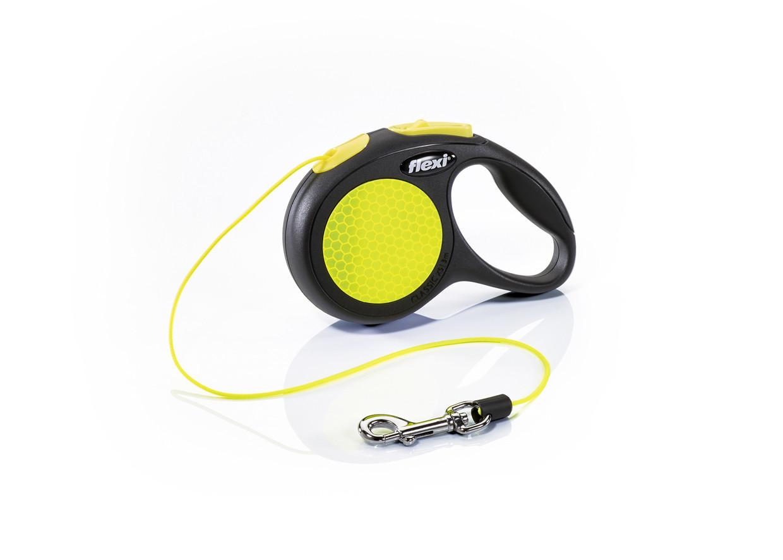 Поводок рулетка ФЛЕКСИ FLEXI Neon XS, для собак весом до 8 кг, трос 3 метра