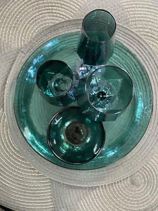 "Набор стаканов ""Зеркальная бирюза"" 500 мл 4 шт 374025-1, фото 2"