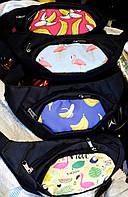Мужские и женские сумки на пояс, бананки на 2 кармана на змейке