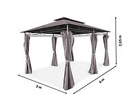 Элегантный садовый павильон Laurel шатер для дома и дачи 4х3м , воздухозаборник