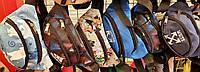 Мужские и женские маленькие сумки на пояс, бананки на 2 отдела на змейке 21*12 см