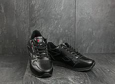 Мужские кроссовки искусственная кожа весна/осень черные Classica G 9168 -3