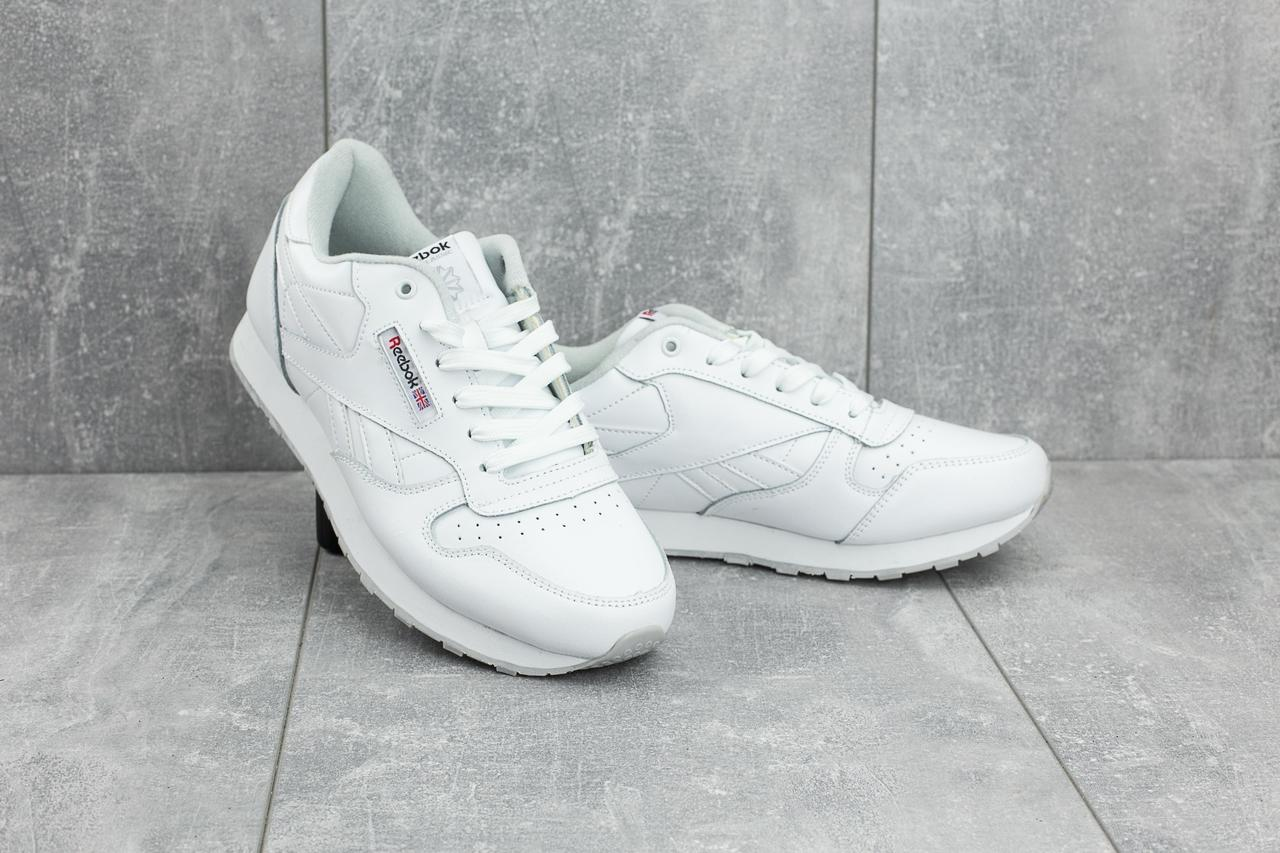 Мужские кроссовки искусственная кожа весна/осень белые Classica G 9168 -1