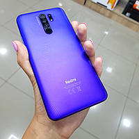 Недорогой фиолетовый смартфон Xiaomi Redmi 9 3/32Гб в подарок защитный чехол