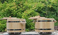 Запарник для двух веников с крышкой  27 л., фото 1