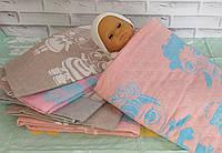 Детское одеяло плед простынь 110*110 лен хлопок. Koloco